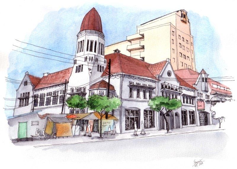 Old colonial building @ Rajawali Street, Surabaya