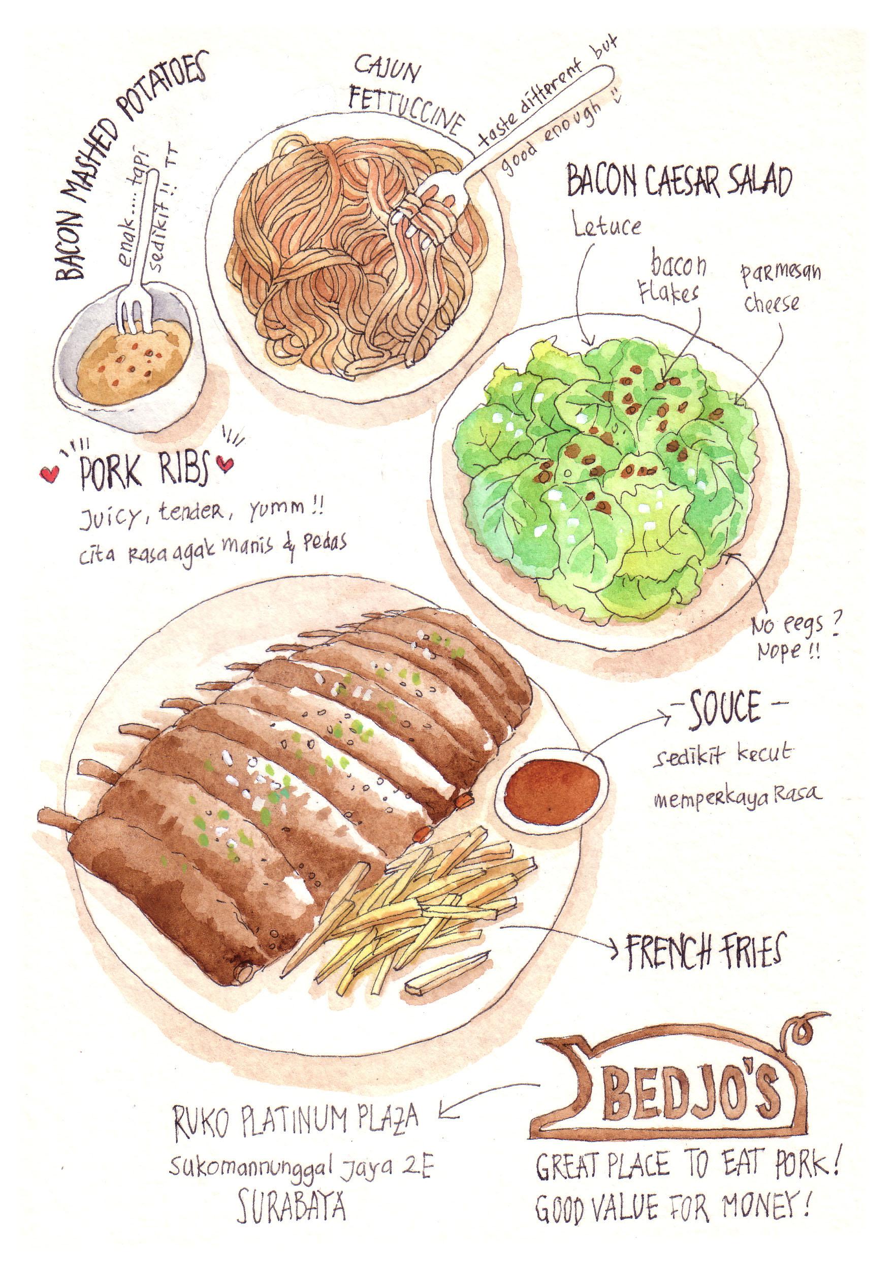 bedjo's pork ribs Surabaya